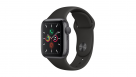 Apple Watch Series 5 40mm Space Grey Aluminum Case with Black Sport Band - GPS