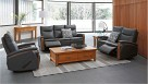 Portsea 3 Seater Recliner Leather Lounge