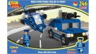 Best-Lock Police Car and Helicopter Block Set