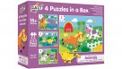 Galt 4 Puzzles in a Box - Animals