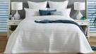 L'Avenue Sasha White Quilted Coverlet Set