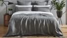 L'Avenue Pure Linen Charcoal Quilt Cover Set