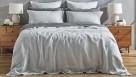 L'Avenue Pure Linen Silver Quilt Cover Set