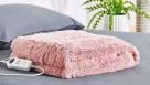 Linen House Plush Blush Heated Throw