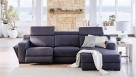 Brooklyn 3-Seater Fabric Recliner Sofa with Chaise