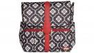 JJ Cole Black Floret Backpack Nappy/Diaper Bag