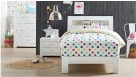Jade King Single Bed - White