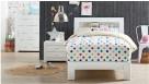 Jade King Single Bed - White