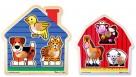 Melissa & Doug 3 Piece Knob Puzzle