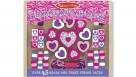 Melissa & Doug Wooden Shimmering Hearts Bead Set