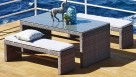Hampton 3 Piece Outdoor Rectangular Bench Dining Setting