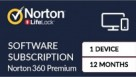 Norton 360 Premium Digital Download - 12 Months for 1 Device
