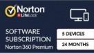Norton 360 Premium Digital Download - 24 Months for 5 Devices