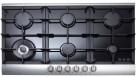 Omega 90cm 6 Burner Gas Cooktop - Black