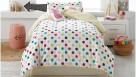 Dotty Pink Spot 250 Thread Count Double Sheet Set