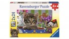 Ravensburger 2x24-Piece Dog And Cat Puzzle