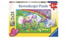 Ravensburger 2x24 Piece Rainbow Horses Jigsaw Puzzle