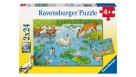 Ravensburger 2x24-Piece Above And Below The Pond Puzzle