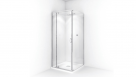 Decina Cascade White Square Shower System