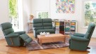 Rialto 3-Piece Leather Recliner Lounge Suite