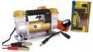 Dynamic Power 200L/MIN 12V Portable Car Tyre Air Compressor Inflator - Gold