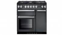 Falcon Nexus 900mm Chrome Fitting Dual Fuel Freestanding Cooker - Slate