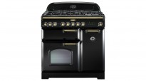 Falcon Classic Deluxe 900mm Dual Fuel Freestanding Cooker - Black Brass