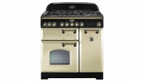 Falcon Classic Deluxe 900mm Dual Fuel Freestanding Cooker - Cream Brass
