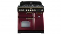 Falcon Classic Deluxe 900mm Dual Fuel Freestanding Cooker - Cranberry Brass