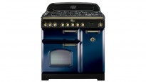 Falcon Classic Deluxe 900mm Dual Fuel Freestanding Cooker - Royal Blue Brass