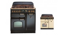 Falcon Classic 900mm Dual Fuel Freestanding Cooker - Brass Fittings