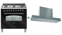 ILVE Nostalgie Series 900mm Freestanding Cooker with Undercupboard Rangehood