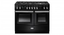 Falcon Professional+ FX 1000mm Dual Fuel Freestanding Cooker - Black and Chrome