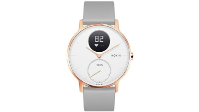 201f9d09903 Withings Nokia Steel HR 36mm Hybrid Smartwatch - Rose Gold with Grey  Silicone Wristband
