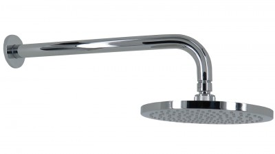 e176e5d4b1a Arcisan Synergii 200mm Round Wall Mounted Shower Head with Arm - Chrome