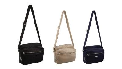 Travelon 3 Compartment Expandable Shoulder Bag, Sand, One