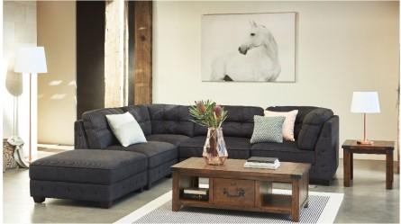 Frankie 5 Piece Fabric Modular Lounge Suite