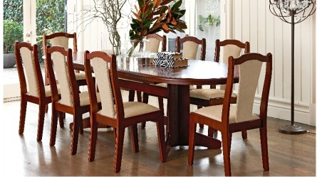 CarolVada 9 Piece Double Extension Dining Suite