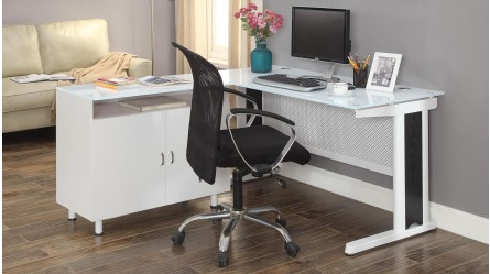 Apex 1600mm Office Desk   White