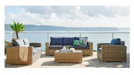 Willows 4-Piece Outdoor Lounge Setting - Outdoor Lounges - Sun Lounges, Outdoor Day Beds, Egg Chairs