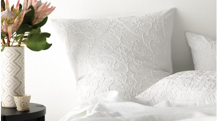Penelope European White Pillow Case