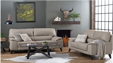 Gilly 3 Seater Leather Sofa
