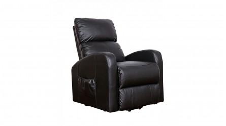 Logan Leather Lift Chair   Black