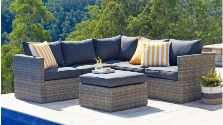 Merveilleux Aria 3 Piece Outdoor Modular Lounge Setting