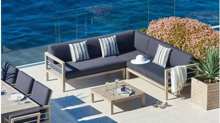 Hayman Outdoor 4 Piece Modular Lounge Setting