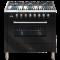 ILVE 900mm Dual-Fuel Freestanding Cooker - Gloss Black thumbnail