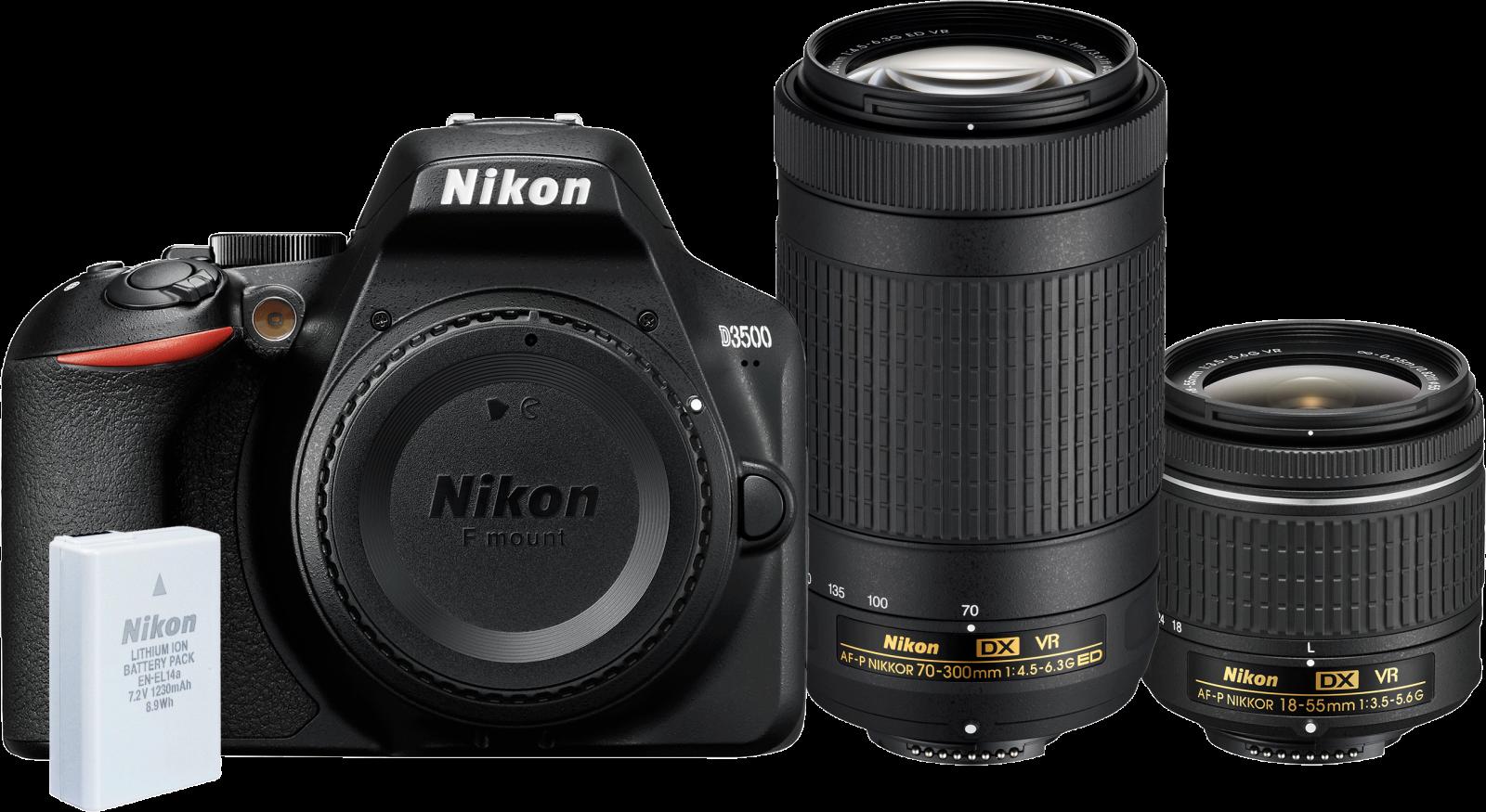 Nikon D3500 DSLR Camera with 18-55mm + 70-300mm Lens Kit