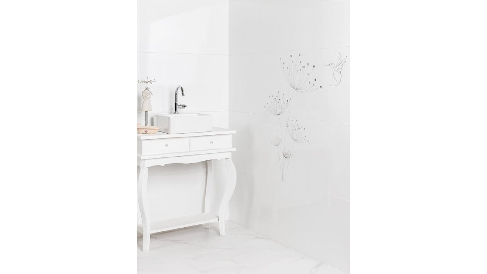 Buy Eliane Diamante Branco 300x900mm Tile - White | Harvey Norman AU