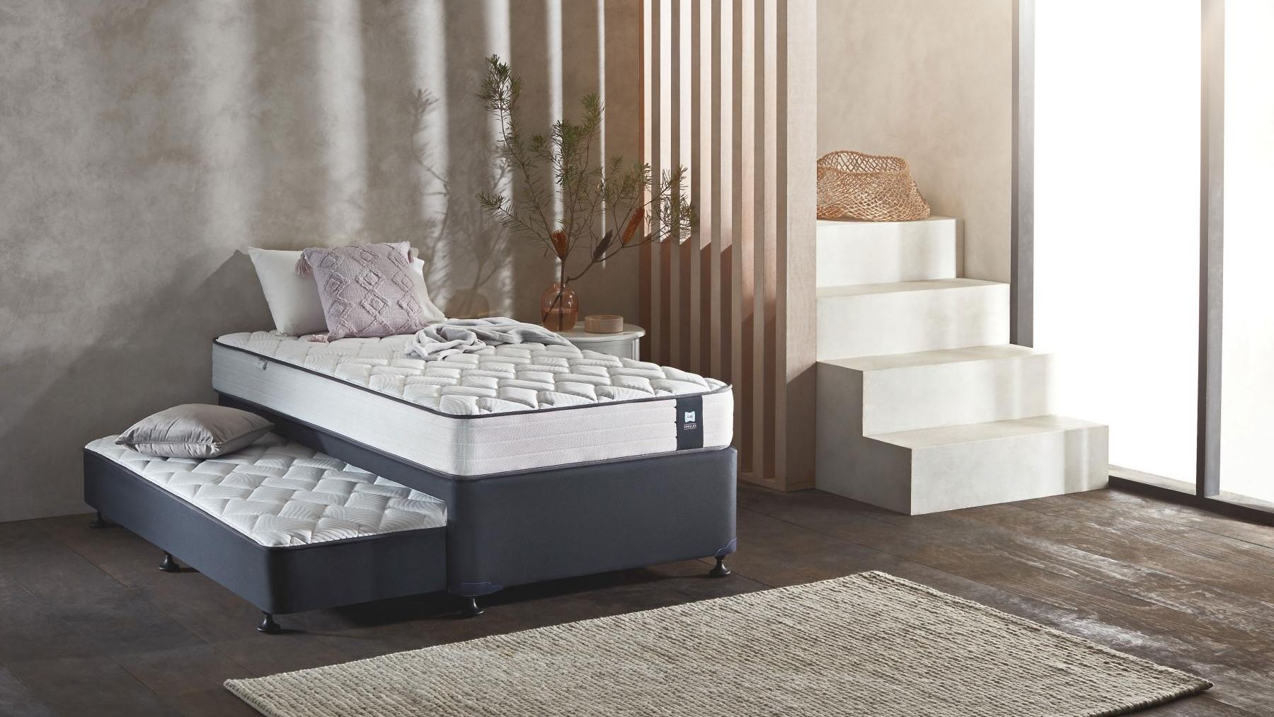Picture of: Buy Sealy Omni 3 Piece Trundle Set King Single Harvey Norman Au