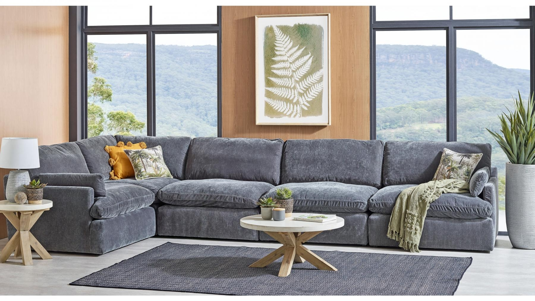 Buy Tate 5 Seater Fabric Modular Lounge Suite Harvey Norman Au